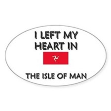 I Left My Heart In The Isle Of Man Oval Stickers