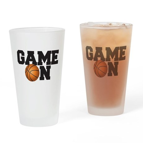 Game On Basketball Drinking Glass