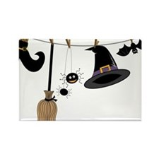 Witch Clothing Rectangle Magnet