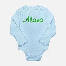Alana Glitter Gel Long Sleeve Infant Bodysuit