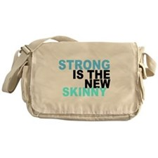 Strong is the New Skinny - Blue Messenger Bag