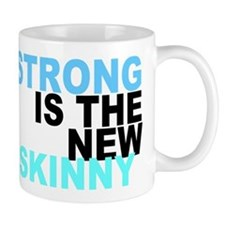 Strong is the New Skinny - Blue Mug
