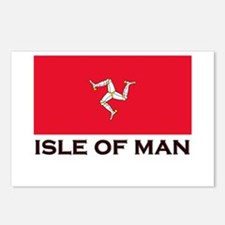 The Isle Of Man Flag Gear Postcards (Package of 8)