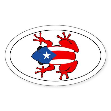 Puerto Rico - PR - Coqui Sticker (Oval)