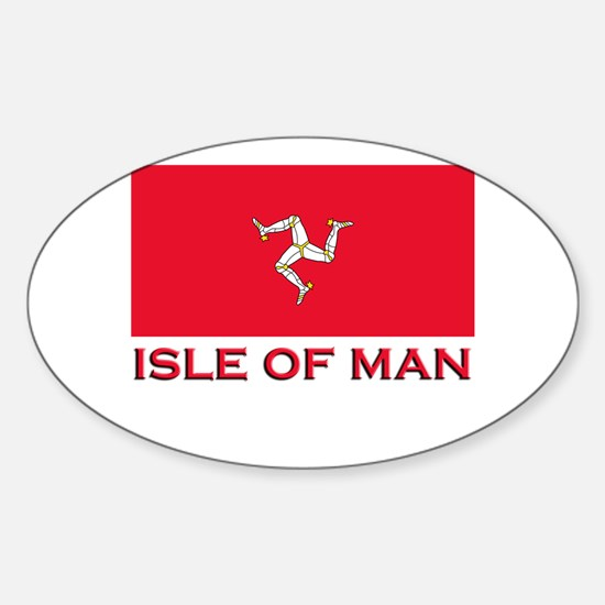 The Isle Of Man Flag Merchandise Oval Decal