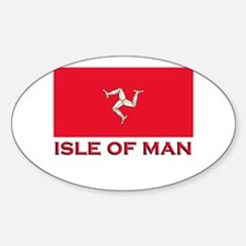 The Isle Of Man Flag Merchandise Oval Stickers