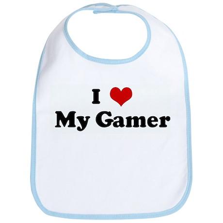I Love My Gamer Bib