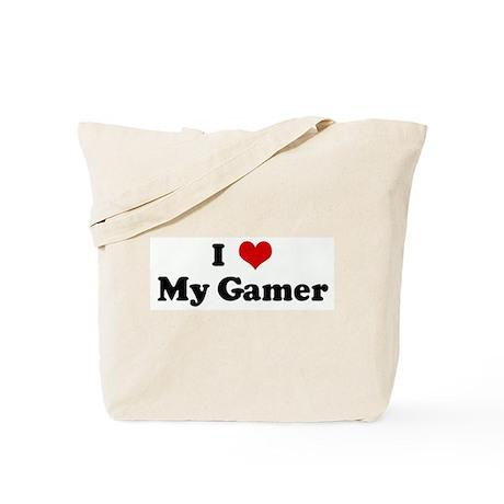 I Love My Gamer Tote Bag