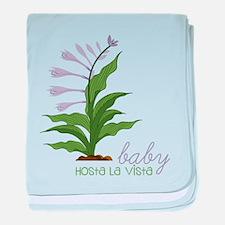 Hosta La Vista baby blanket