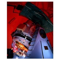 Time-exposure image of Nordic Optical Telescope Poster