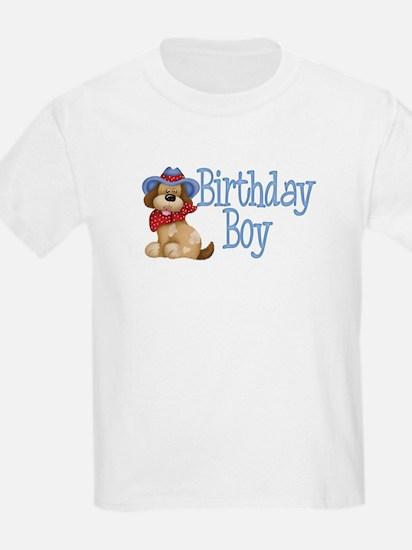 Birthday Boy Dog Kids T-Shirt