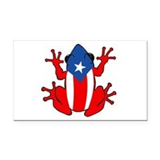 Puerto Rico - PR - Coqui Rectangle Car Magnet