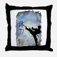 Power Kick Throw Pillow