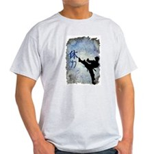 Power Kick Ash Grey T-Shirt