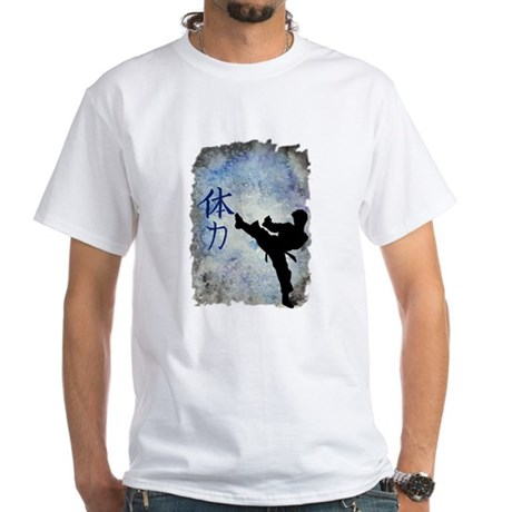 Power Kick White T-Shirt