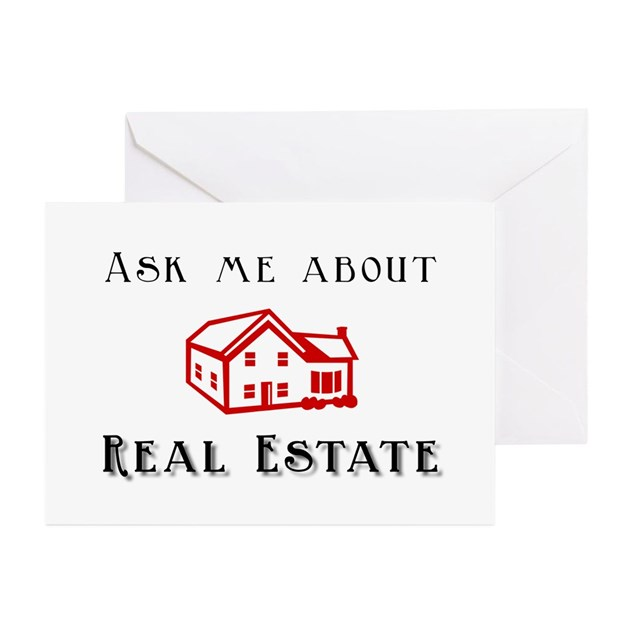 Real Estate Greeting Cards (Pk of 10) by caninecouture
