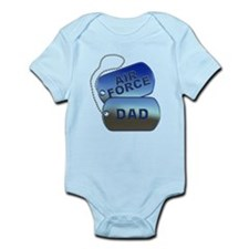 Air Force Dad Dog Tags Infant Bodysuit