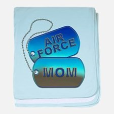 Air Force Mom Dog Tags baby blanket