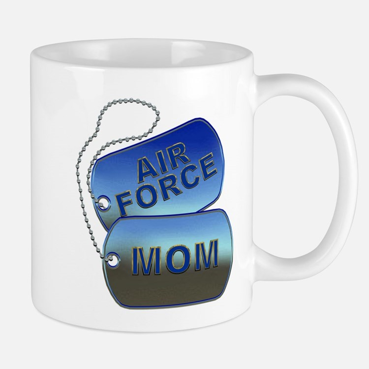 Air Force Mom Dog Tags Mug