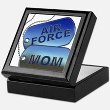 Air Force Mom Dog Tags Keepsake Box