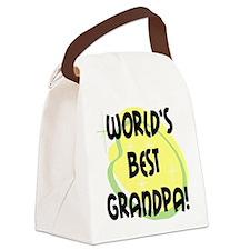 World's Best Grandpa Canvas Lunch Bag