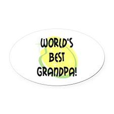 World's Best Grandpa Oval Car Magnet