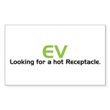 Electric Vehicle Hot Receptacle Decal