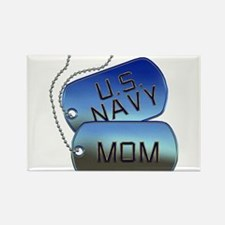 Navy Mom Dog Tags Rectangle Magnet