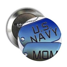 "Navy Mom Dog Tags 2.25"" Button"