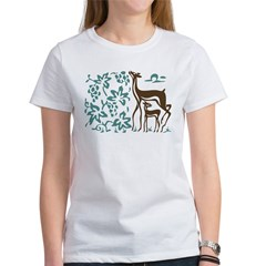 Deer in Vineyard Batik Tee