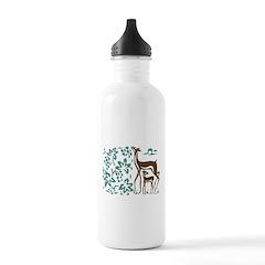 Deer in Vineyard Batik Water Bottle