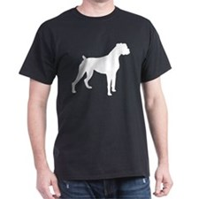 Boxer Dog Black T-Shirt