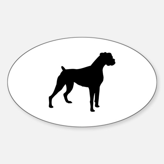 Boxer Dog Oval Decal