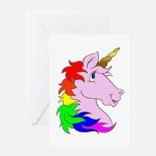 Unicorns Rule! Greeting Card