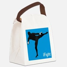 iFight (blue) Canvas Lunch Bag
