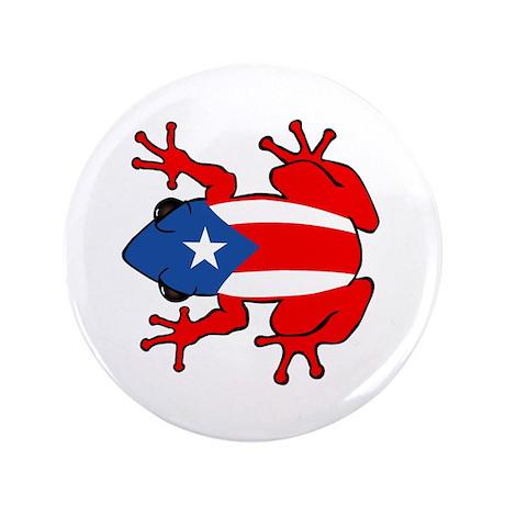 """Puerto Rico - PR - Coqui 3.5"""" Button"""