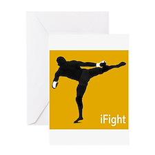 iFight (orange) Greeting Card