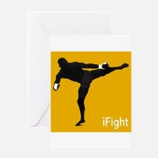 iFight (orange) Greeting Card