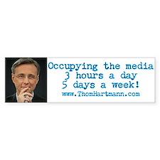 Occupying The Media Bumper Car Sticker
