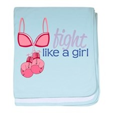 Fight Like A Girl baby blanket
