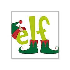 "Elf Square Sticker 3"" x 3"""
