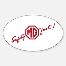 Oval Safety Fast Decal