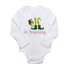 Elf In Training Long Sleeve Infant Bodysuit