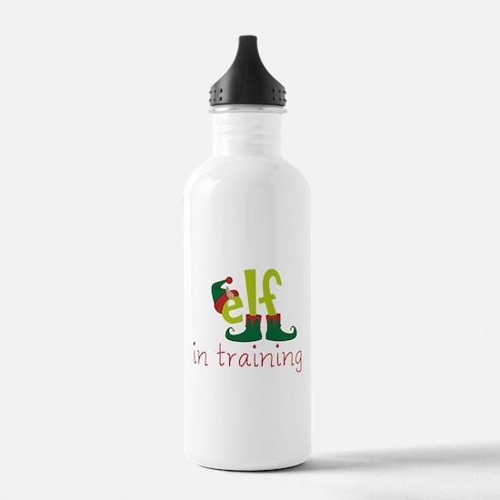 Elf In Training Water Bottle