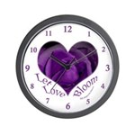 Jenny's Purple Roses, Let Love Bloom Wall Clock