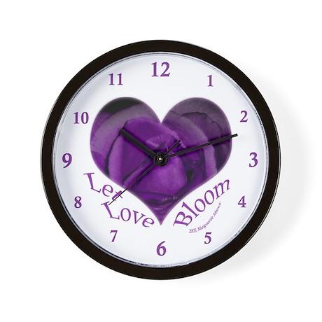 Jenny's Purple Roses, Let Love Bloom Wall Clock