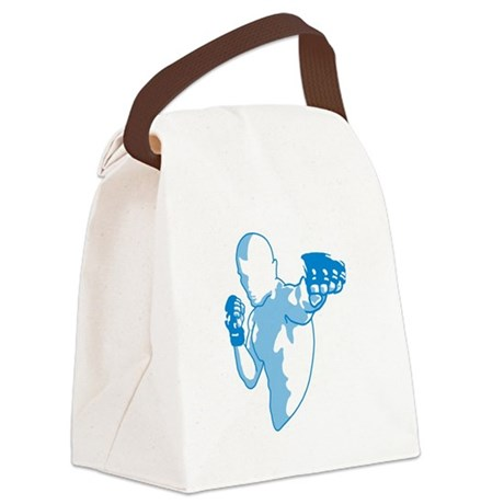 Punch (blue) Canvas Lunch Bag