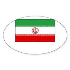 Iran Flag Picture Oval Decal