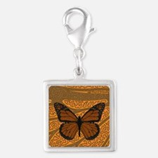 Monarch Silver Square Charm