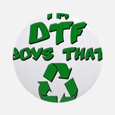 DTF recycle Ornament (Round)